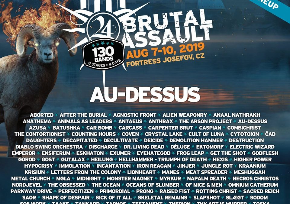 AU-DESSUS will perform at BRUTAL ASSAULT festival!