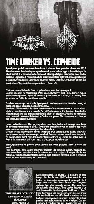 TIME LURKER & CEPHEIDE interview (french only)